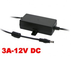 Zasilacz impulsowy desktop 12V DC 3A (36W) do CCTV, LED