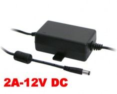 Zasilacz impulsowy desktop 12V DC 2A (24W) do CCTV, LED