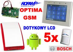 ROPAM zestaw OptimaGSM-PS z GSM, SMS, MMS, CLIP, email, Android + 5x BOSCH