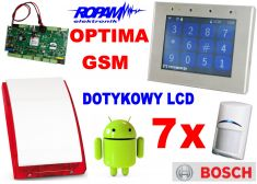 ROPAM zestaw OptimaGSM-PS z GSM, SMS, MMS, CLIP, email, Android + 7x BOSCH