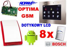 ROPAM zestaw OptimaGSM-PS z GSM, SMS, MMS, CLIP, email, Android + 8x BOSCH