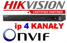 HIKVISION rejestrator 4-kanałowy ip DS-7604NI-E1 40-Mbit, kamery 6MPx